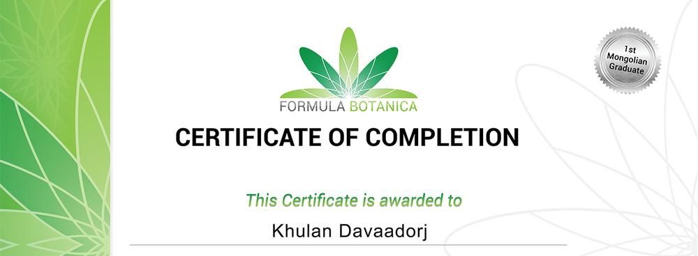 April 2014 – Organic skincare formulation diploma